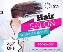 banner design jpg hair salon ad banner template online service ad design creative ad