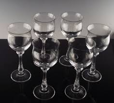 Wine Goblets Mikasa Crystal Wine Goblets In Ardmore Pattern Ca 1982 93 From The