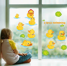 yellow duck kids wall decals for bathroom wall stickers removable