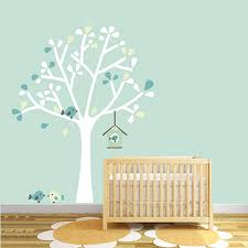 White Tree Wall Decal For Nursery by Silhouette Tree Fabric Wall Sticker By Littleprints