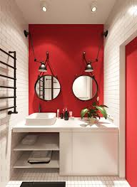 Small Red Bathroom Ideas Colors 3 Small Apartments That Rock Uncommon Color Schemes With Floor Plans