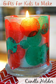 kids christmas craft candle holder simple gifts grandparents