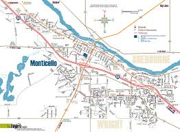 Ne Map Monticello Minnesota Map