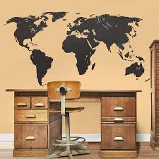 dry erase world map wall decal contemporary wall decals by dry erase world map wall decal contemporary wall decals by chalkboard world map wall sticker