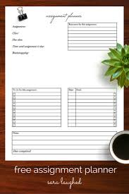 free planner template best 25 assignment planner ideas only on pinterest college how to use an assignment planner a free printable