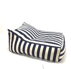 bean bag xl beanbag modern design white navy blue linnen