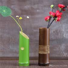 Flowers For Home Decor Wholesale Handmade Japanese Bamboo Flower Vase For Home Decoration