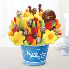 thank you gift basket thank you gifts fruit arrangements bouquets edible arrangements