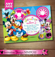 mickey mouse clubhouse birthday invites minnie mouse clubhouse invitation mickey minnie daisy donald