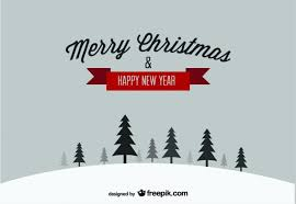 happy new year post card merry christmas happy new year snow postcard vector free
