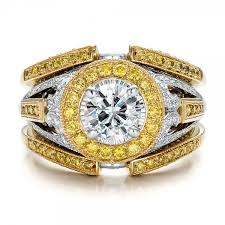 top gold rings images Custom two tone gold and yellow and white diamond engagement ring jpg