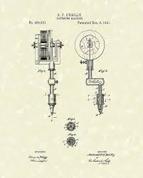 tattoo machine 1891 patent art drawing by prior art design