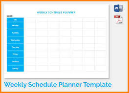 8 weekly timetable template agenda example