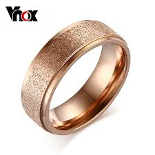 gold color rings images Vnox fashion rose gold color rings for women wedding engagement jpg