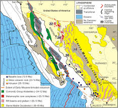 Map Of California And Mexico by Pulling Apart The Mid To Late Cenozoic Magmatic Record Of The Gulf