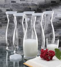 glass cylinder table l buy h2o cylinder green stainless steel 750 ml bottle online glass