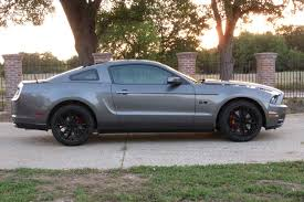 Blacked Out 2014 Mustang Messing With Photoshop Black Wheels Black Skirts Black Vents