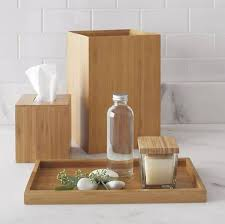 zen bathroom decoration ideas with bamboo bathroom accessories
