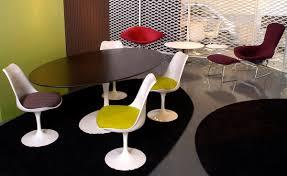 saarinen dining table wood options hivemodern com