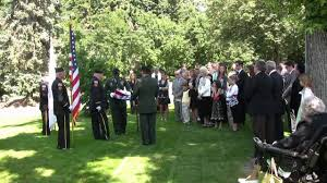 Military Funeral Flag Presentation Military Flag Ceremony During The Funeral For A Wwii Veteran U S