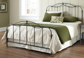 White Metal Headboard White Wrought Iron Queen Bed Frame Home Beds Decoration