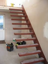outdoor stairs lighting concrete floating stairs construction forming steps exterior how