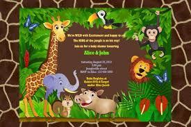 jungle animal baby shower invitations baby shower invitations