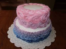 ruffles and rosettes baby shower cake cakecentral com