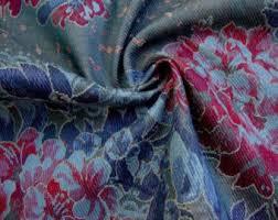 Upholstery Denim Vintage Denim Fabric Etsy