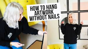 how to hang pictures without nails youtube