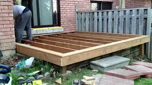 Deck In The Backyard 10 By 10 Diy Deck Build Timelapse Of My Son And I Building A