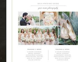 wedding photography prices brochure design template photography pricing guide price