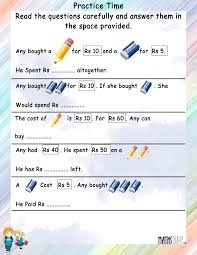 statement sums u2013 grade 2 math worksheets