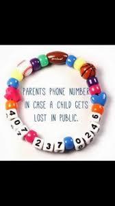 best 25 phone number bracelet ideas on pinterest kids safety