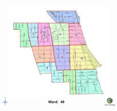 40th ward chicago map sweeping schedule map ward 49