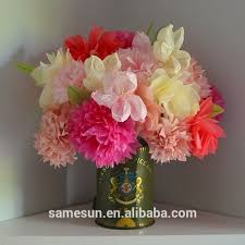 Flowers For Home Decor Beautiful Artificial Tissue Paper Flowers For Vase Decoration