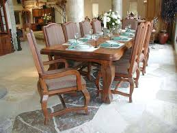 French Country Kitchen Table Dining Table Long Rectangle Natural Brown Wooden French Country