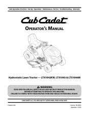 i have a cub cadet ltx 1045 2 years old i was cutting the