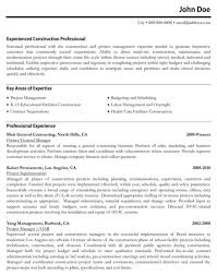 Construction Resume Examples by Construction Resume Template