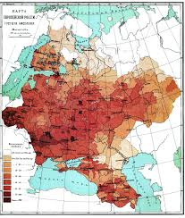russia map by population moscow russia population density map images