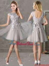 grey bridesmaid dresses fashion trends 50s 80s cap sleeves bridesmaid dresses