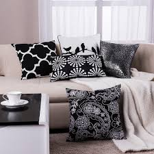 Throw Pillows Sofa by Aliexpress Com Buy Black Pillow Geometric Cushions Decorative