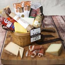 cheese gift baskets the gourmet market connoisseur s meat and cheese gift basket