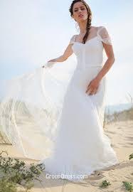 a line cap sleeves backless lace sheer beach wedding dress