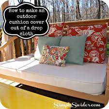 Recover Patio Chairs by How To Make An Outdoor Cushion Cover Out Of A Drop Cloth Simply