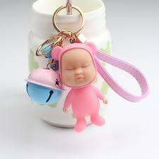 baby keychains sleeping baby bell keychain simulation creative