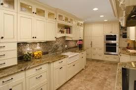 white kitchen cabinets travertine backslash tile kitchen new