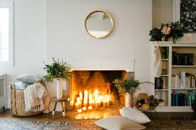 christmas trees garlands and wreaths to inspire your holiday pillar candle fireplace