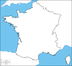 Blank Map Of The West Region by France Free Maps Free Blank Maps Free Outline Maps Free Base Maps