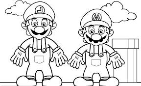 mario coloring free download